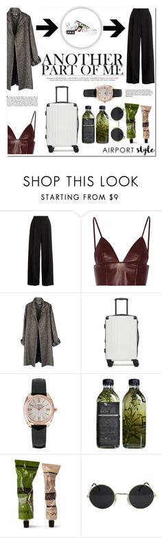 """Wanderlust Wonderful, Airport Style: time"" by thejlino ❤ liked on Polyvore featuring RED Valentino, T By Alexander Wang, Jean-Paul Gaultier, CalPak, Links of London, Aesop, Garance Doré, Dolce&Gabbana and airportstyle"