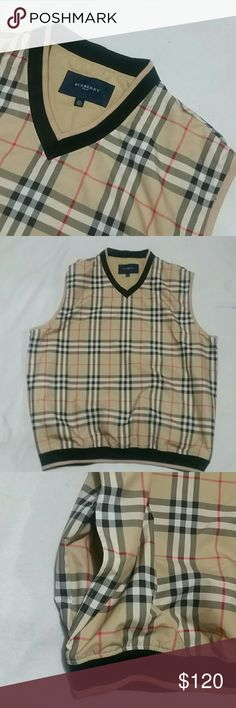 Mens Burberry Golf Vest Authentic Burberry Golf Mens vest. This is from the golf line of Burberry which is made in China. Burberry Brit and Burberry London are made elsewhere. In really good condition. Burberry Jackets & Coats Vests