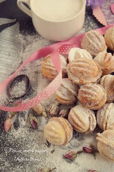 Image discovered by Dianu Andreea. Find images and videos about nuts cookies on We Heart It - the app to get lost in what you love. Romanian Desserts, Romanian Food, Food Cakes, Cupcake Cakes, Cake Recipes, Dessert Recipes, Italian Cookies, Recipes From Heaven, Mediterranean Recipes