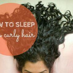 4 ways to sleep with curly hair