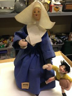"""SOLD: """"Nun/Teacher and Child Doll"""" - ROLDAN DOLL COMPANY MADE IN SPAIN"""