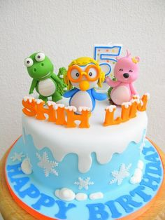 Another Pororo cake, with Crong and Loopy by joannefam, via Flickr