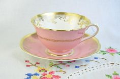 Collingwoods pink cup and saucer