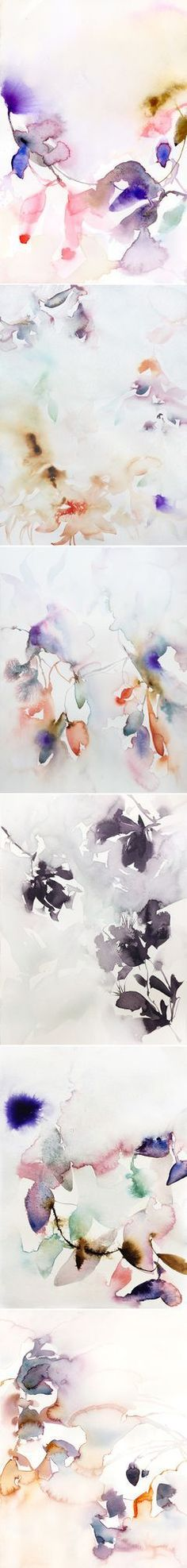 Oh. I am desperate for spring to arrive, but considering it's only February 9th I think I'm in for a bit of a wait… maybe I'll just stare at these gorgeous, washy, abstract floral watercolors for the