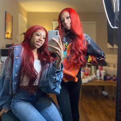 We bossin up ik y'all mad 😍🤷🏽♀️ Black Girl Swag, Black Baby Girls, Baddie Hairstyles, Girl Hairstyles, Celebrity Best Friends, Twin Girls Outfits, Black Girl Cartoon, Best Friend Outfits, Colored Wigs