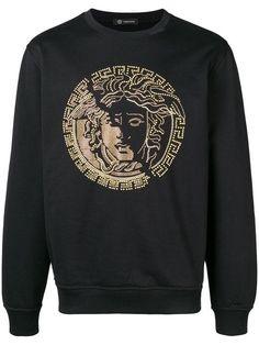 ccde65a6 Shop Versace studded medusa logo sweatshirt. Versace T Shirt Men, Versace  Sweater, Versace