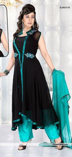 Jacket Style Long Anarkali Suit