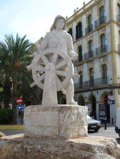 Ibiza, Spain - Sculpture of a helmsman