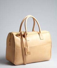 bcfd843db6 Saint Laurent Natural Leather Top Handle Bag in Beige (natural)