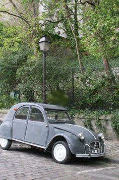 Classic French car, the Deux-cheveaux (two horses) Citroen