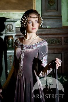 Custom Size Renaissance Dress Lady Rowena exclusive velvet embroidered medieval gown. $542.00, via armstreet on Etsy.
