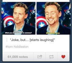 Loki & Tom Hiddleston ~ Both Sexy Marvel Jokes, Marvel Funny, Marvel Avengers, Loki Funny, Avengers Memes, It's Funny, Marvel Comics, Tom Hiddleston Imagines, Tom Hiddleston Loki