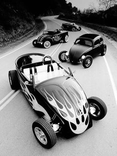Volkswagen Beetles Hot Rod Group Shot