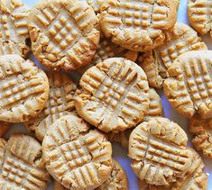 Peanut butter cookies- reminds me of my grandmother- she always let me smash them done with a fork...