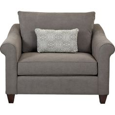 Complete your living room seating group or create an inviting reading nook in the guest suite with this charcoal-hued arm chair. Prod...