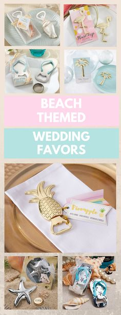 These beach theme wedding favors are perfect for the summer wedding!