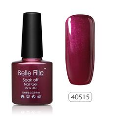 Belle Fille Soak Off UV Color Coat Led Nail Art Gel Polish Manicure Lacquer 10ml Burgundy 40515 -- This is an Amazon Affiliate link. You can find out more details at the link of the image.