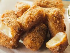 Pretzel-Crusted Fried Cheese with Spicy Ranch recipe from Trisha Yearwood via Food Network