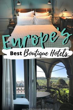 Who doesn't love staying in a boutique hotel bedroom? In this post, I'm sharing the best boutique hotels in Europe's major cities, including small boutique hotels with inspiring boutique hotel interiors - Don't miss my Europe boutique hotel list, click through to read! #europetravels #boutiquehoteldesign Boutique Hotels London, Small Boutique Hotels, Small Luxury Hotels, A Boutique, Luxury Travel, Plywood Furniture, Villa, Phuket, Mykonos