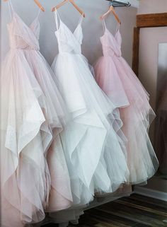 Custom made A line tulle ruffled long prom dresses, evening dresses, Customized service and Rush order are available