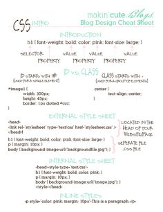 CSS html cheat sheet. brilliant
