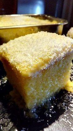 Πολύ αφράτο ραβανί με ινδοκάρυδο και κρέμα #Γλυκό #Συνταγές