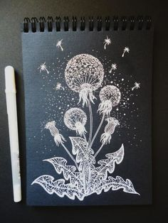 Black And White Art Drawing, Black Paper Drawing, Doodle Art Drawing, Mandala Drawing, Cool Art Drawings, Colorful Drawings, Art Drawings Sketches, Sketchbook Cover, Scratchboard Art