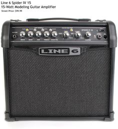 Line 6 Spider IV 15. This 15-Watt modeling amp has a lot of features packed in for the price including 4 Amp Models and 6 Effects along with 3-band EQ and Onboard Chromatic Tuner. For a detailed guide to cheap guitar amps see https://www.gearank.com/guides/cheap-guitar-amps