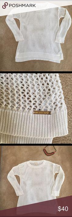 ❤️❤️Michael Kors Sweater❤️❤️ Beautiful light cream colored crocheted sweater. Michael Kors Sweaters