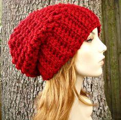 Crochet Hat Pattern Womens Hat Mens Hat How To Crochet | Etsy Slouchy Beanie Pattern, Crochet Slouchy Hat, Knitted Hats, Crochet Hats, Chunky Crochet, Quick Crochet, Hand Crochet, Crochet Granny, Mens Beanie Hats