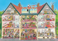 Puzzle - Jan van Haasteren - Shaped Hotel