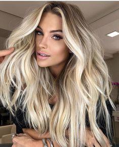 Blonde Highlights On Dark Hair, Brown Blonde Hair, Icy Blonde, Work Hairstyles, Spring Hairstyles, Platinum Hair Color, Luscious Hair, Balayage Hair, Blonde Bayalage Hair