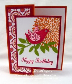 Stampin Up Card, Betsy's Blossoms stamp set. by Natasha Zandbergen, Inking Out of the Box