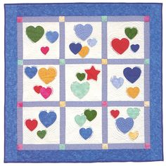 """Family Quilts Ideas   by Inch"""" ePattern , """"Family Hearts"""" from Sweet and Simple Baby Quilts ..."""