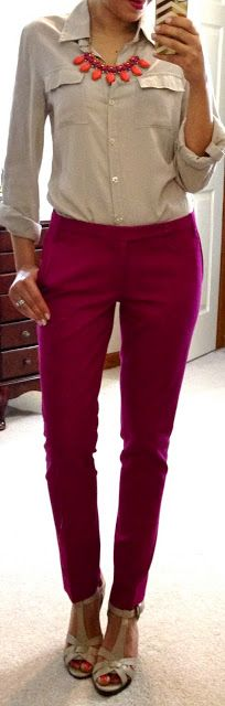 pink pants & nude heels Outfits for work hello gorgeous Corporate Wear, Corporate Attire Women, Stylish Summer Outfits, Cool Outfits, Casual Outfits, Fashion Outfits, Womens Fashion, Office Fashion, Work Fashion