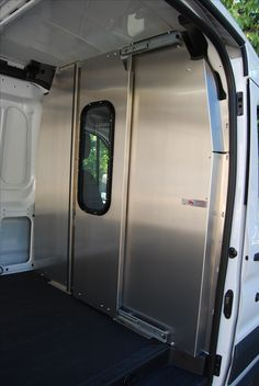 Check out our van safety partitions and bulkheads for cargo work vans! Often called headache racks or dividers, Advantage Outfitters offers a variety of partitions - swing door, solid, walk-through, and window bulkheads. Our wide selection of both aluminum and steel van partitions is sure to offer you the perfect solution for keeping both your passengers and cargo safe and secure. Visit our online store at www.commercialvanshelving.com to view our van equipment.