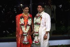 1995: When Sachin Tendulkar married Anjali Mehta, a Bombay-based doctor, at age 22. She was really good for him. His career really took off after this.