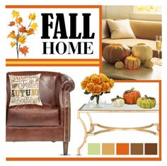 """""""Fall Home"""" by lgb321 ❤ liked on Polyvore featuring interior, interiors, interior design, home, home decor, interior decorating and Nearly Natural"""