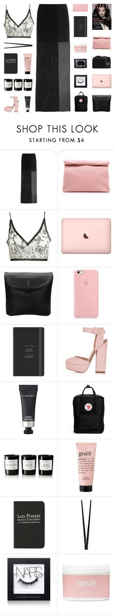 """""""BITE MY LIP AND CLOSE MY EYES."""" by voguezoe ❤ liked on Polyvore featuring Maison Margiela, Marie Turnor, Meadham Kirchhoff, CO, Topshop, MAC Cosmetics, Fjällräven, Byredo, philosophy and Moleskine"""