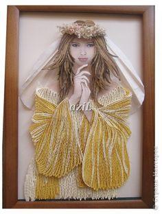 Картина, панно Квиллинг: Невеста Бумажные полосы. Фото 1