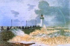 "Claude Monet    ""The Jetty at Le Havre"", 1868"