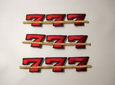 Lucky Sevens Slot Machine Pay Line by LuckyPennyTrading on Etsy