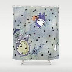 Totoro Kawaii My Neighbor Shower Curtains From