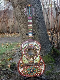 Mosaic Guitar...names? | by Crooked Moon Mosaics