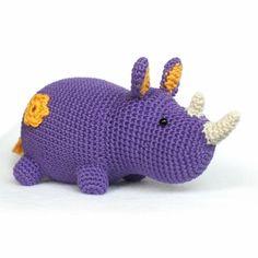 Purple Rhino amigurumi pattern by DIY Fluffies