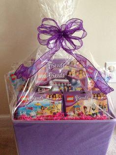legos gift basket | Lego Friends gift basket | Gift Baskets...such an amazing idea!