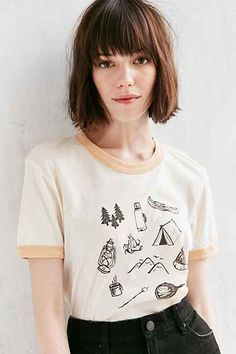 Truly Madly Deeply Campground Ringer Tee - Urban Outfitters