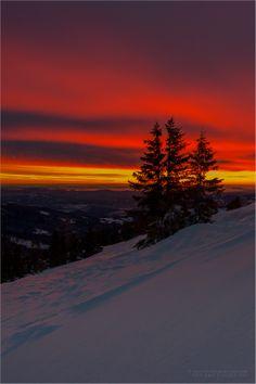 Wintermorgen by Friedrich Beren on Winter Sunset, Winter Scenery, Winter Trees, Beautiful Moon, Beautiful World, Photography Pics, Nature Photography, Nature Pictures, Beautiful Pictures