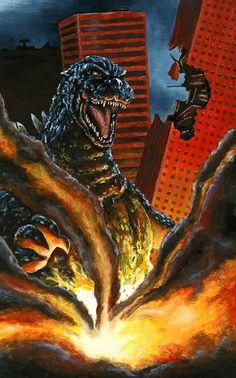 Gfest '09 Godzilla Painting by KillustrationStudios.deviantart.com on @deviantART