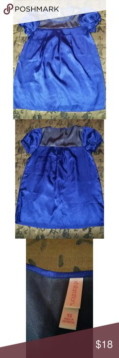 Dark blue blouse Fancy blue blouse. Gently worn. In perfect condition with no stains. Size xs woman. Xhilaration Tops
